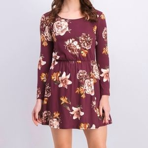 French Grey Floral Dress